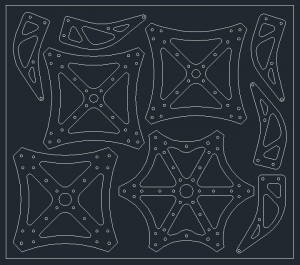 Centerplates arranged in AutoCAD