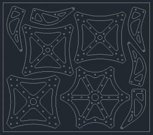 Centerplates arranged in AutoCAD